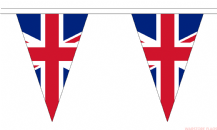UNION JACK TRIANGULAR BUNTING - 20 METRES 54 FLAGS